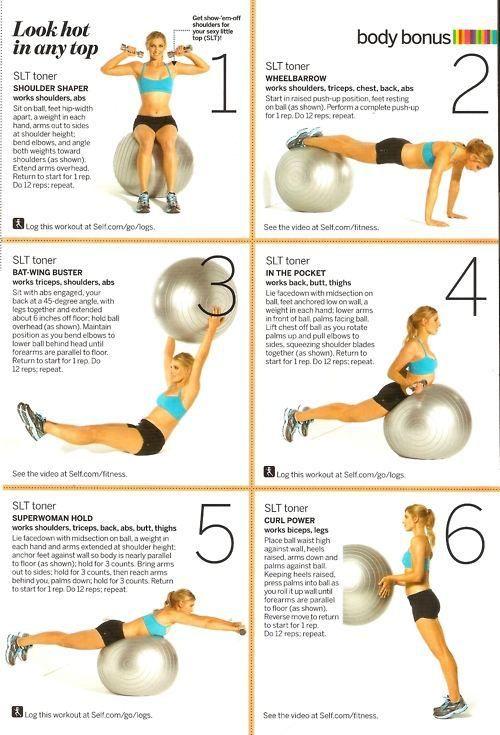 short stability ball workout