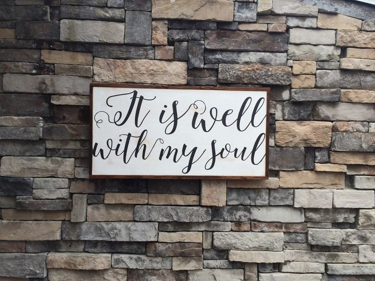 It is well with my soul lyrics sign * bible verse * anchor * inspirational * christian gift * christian decor * by SaltedWordsCompany on Etsy https://www.etsy.com/listing/206633307/it-is-well-with-my-soul-lyrics-sign