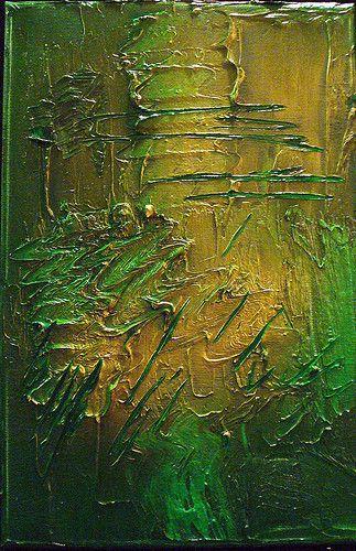 Ölbild, Goldspray