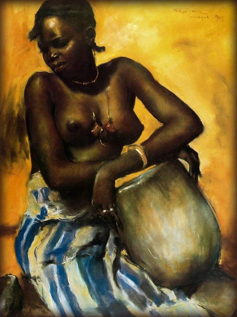 from Talon naked african woman paintings