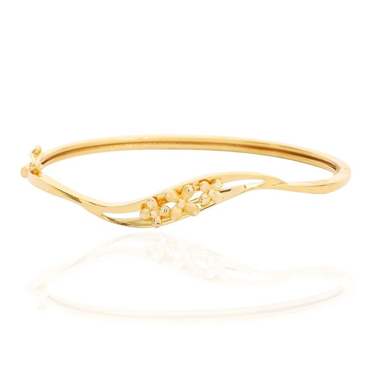Trio Floral Wave Gold Bracelet