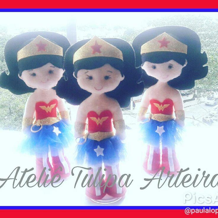 Mulher Maravilha #Mulhermaravilhafeltro #feltro #felt #Wonderwoman