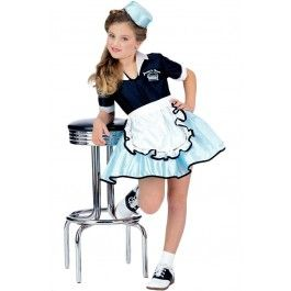 Kid's Car Hop Girl Child Costume #halloween #costume #rebel #rebelcircus #kid #kids #child #car #hop #girl #waitress #server