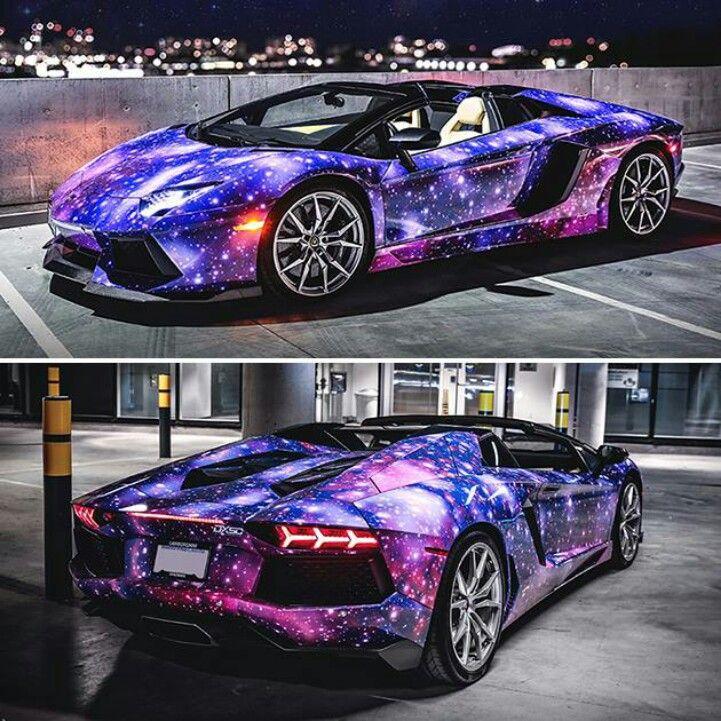 Lamborghini Aventador Roadster With Galaxy Paint.