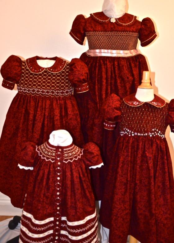 Lovely Christmas dresses.