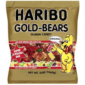 Haribo Gold-Bears Original Gummi Candy, 3 lb (These might look cute in the candy buffet)  $7.50 (Could see if I could find a better price, but I think it's a ton of candy)