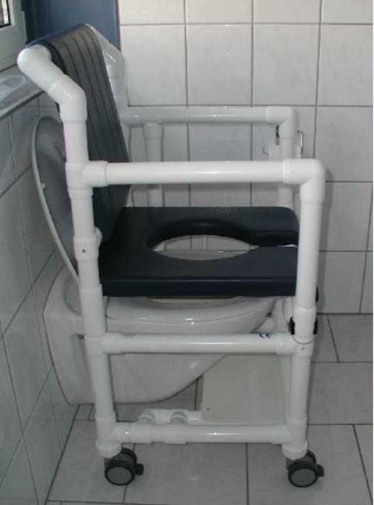 Chaise percée, chaise de douche, rehausseur de toilettes