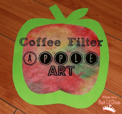 Coffee Filter Apple Art - easy, fun fall craft that's great for kids of all ages