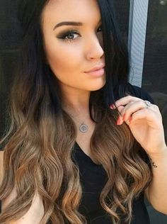 Black hair with brown ombre