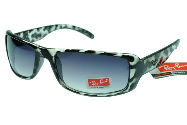 Replica Active Lifestyle Ray Ban Black White Pattern--Grey Lens For sale