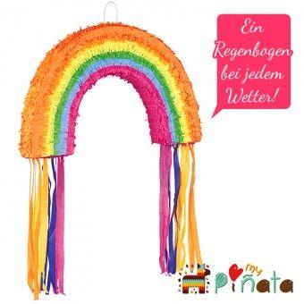 Regenbogen – Zieh-Piñata - my-pinata - Piñatas günstig kaufen bei Deutschlands größtem Piñata Onlineshop.