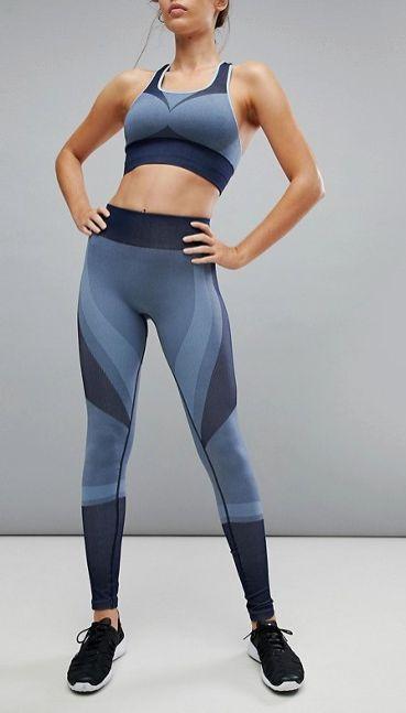 Varley Clara Legging In Blue Jacquard | activewear | yoga pants | workout pants | running pants | leggings | #ad