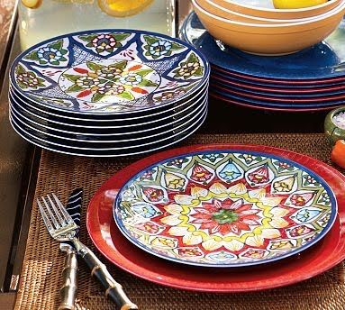 Talavera Melamine Salad Plates Set of 4 and other furniture \u0026 decor products. & 7 best melamine dinnerware images on Pinterest | Dishes Better ...