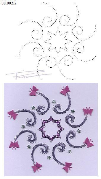 08.002.2 borduren op papier 08.002.2 embroidery on paper 08.002.2 broderie sur papier