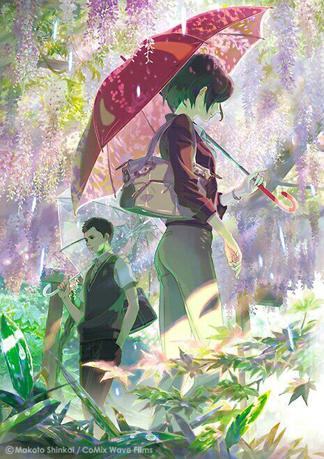 The garden of words - this is the most beautiful movie i've ever seen. The story was so deep and very beautful. And the art was just breathtaking! Seriously if you haven't watched it yet, go watch it! It is definitely an anime movie that is worth you're time. Also the scene in the rain was one of the most beautiful anime scenes i've seen until now!