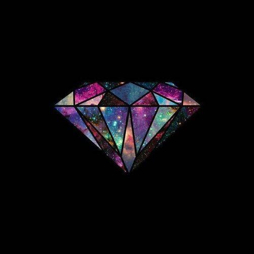 diamond, wallpaper, and galaxy image