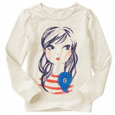 Camiseta Gymboree Corsage Girl manga larga