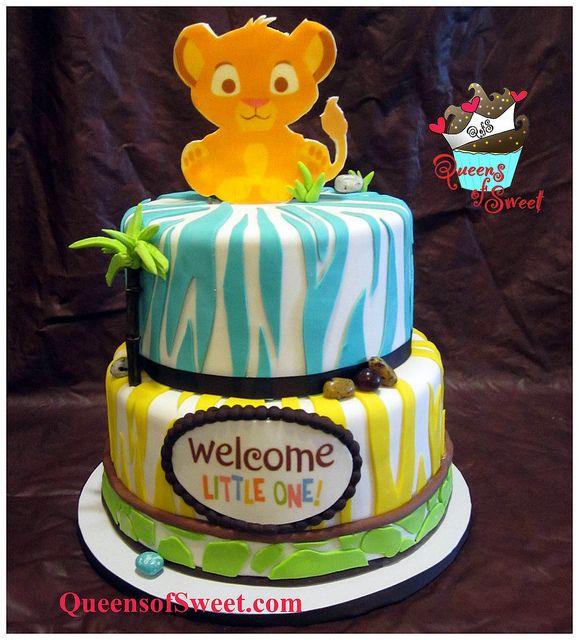 Simba Baby Shower | Simba Baby Shower cake