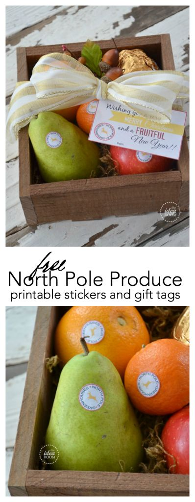 Christmas | Looking for a healthy Christmas Gift idea? Give your friends some authentic North Pole Produce grown in the North Pole Greenhouses. Free printables!