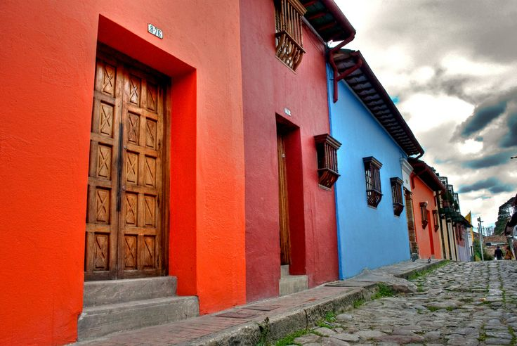 Casas de Colores  some colonial houses in Bogota´s old downtown.