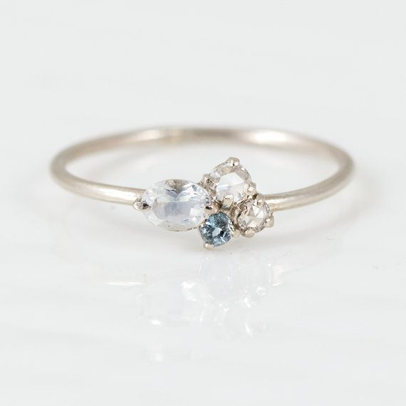 To the Moon and Back Mini Cluster Ring // by MelanieCaseyJewelry