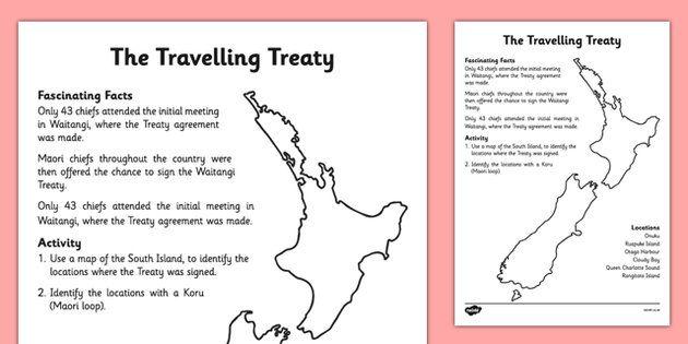 Waitangi Day Activity Sheet The Travelling Treaty