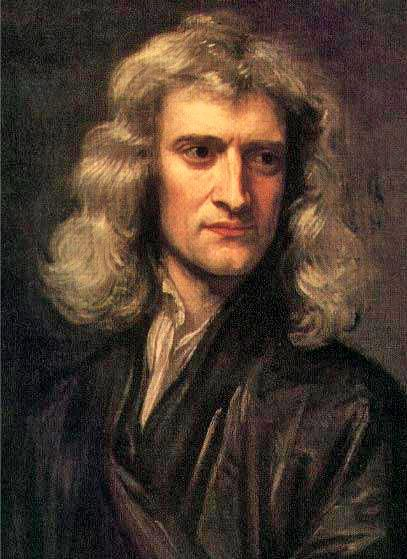 Isaac Newton, painting by Godfrey Kneller in 1689