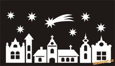 houses silhouettes for christmas - Buscar con Google