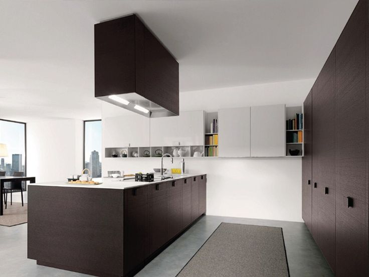 Fitted kitchen with island TELEA by Euromobil