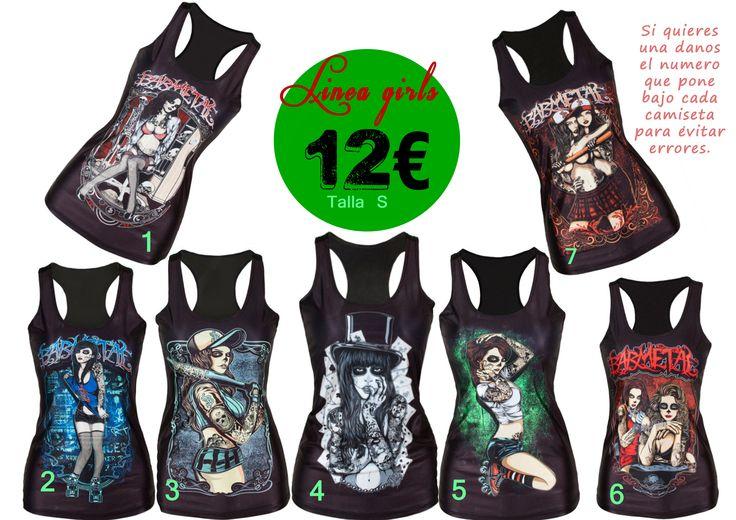 Camisetas alternativas chicas duras 12€ OFERTA 2X21€