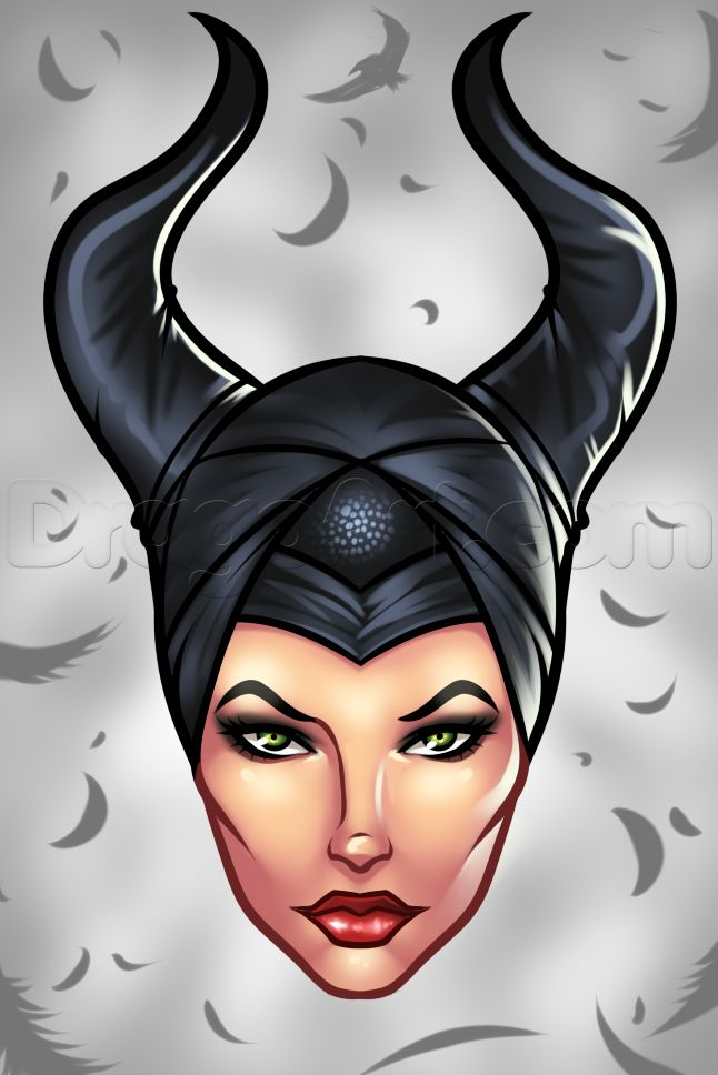 How to Draw Maleficent Easy, Step by Step, Disney ...