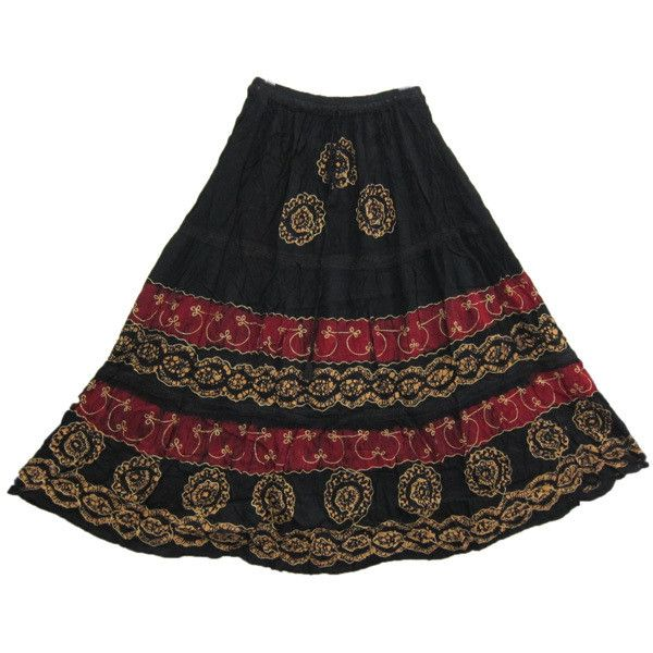 Hippie Skirt, Black Maxi Skirts, Boho Maxi Skirts ❤ liked on Polyvore featuring skirts, floor length skirt, bohemian skirts, boho skirts, ankle length skirts and hippy skirt