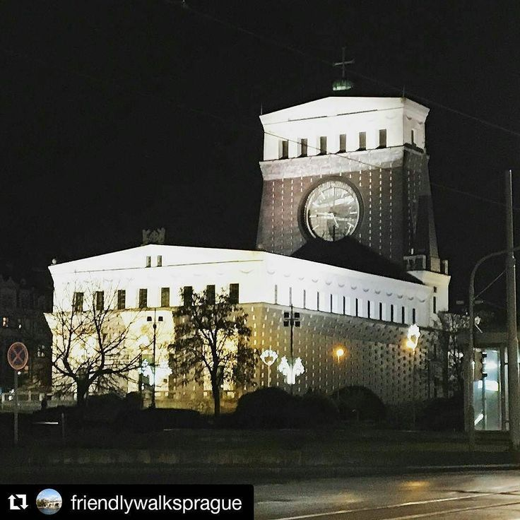 #Repost @friendlywalksprague  The Church of the Most Sacred Heart of Our Lord is a Roman Catholic church at Jiřího z Poděbrad Square in Prague's Vinohrady district. It was built between 1929 and 1932 and designed by the Slovene architect Jože Plečnik. #church #sacred #heart #our #lord #design #designer #architecture #architect #night #dark #nighttime #lights  #czechrepublic #trip #visit #visitprague #see #seewhathappens #beautiful #love #lovemyjob #friends #friendly #friendlywalksprague
