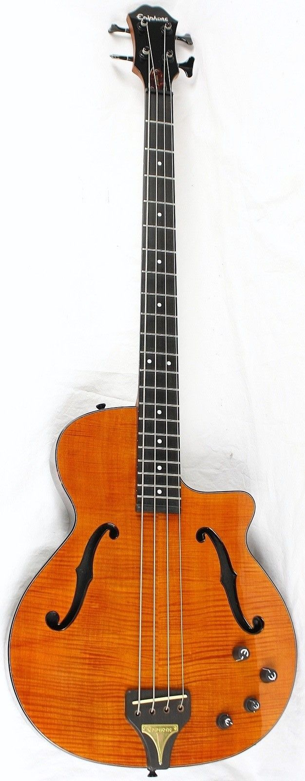 frettedchordophones: Epiphone Zenith Acoustic Bass Guitar (with ƒ holes) =Lardys Chordophone of the day - a year ago =Lardys Chordophone of the day - 2 years ago --- https://www.pinterest.com/lardyfatboy/