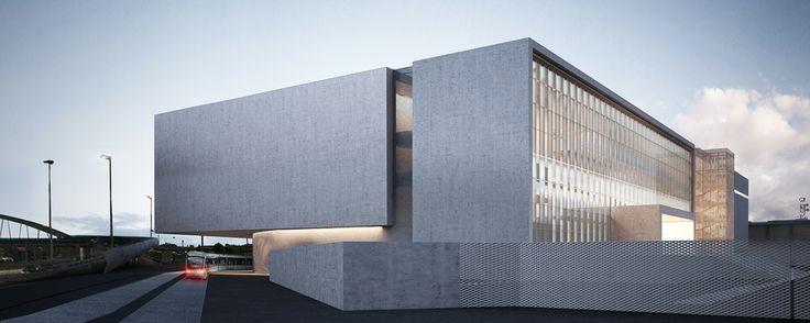 Padova Congress Centre by Gonçalo Byrne arquitectos, PROAP Italia, Setten Genesio Spa e zanon architetti associati #competition #rendering