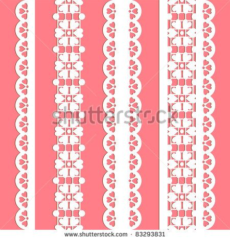 cute vector straight lace set. Seamless lace trims for use with fabric projects, backgrounds or scrap-booking.  Elements can also be used as brushes