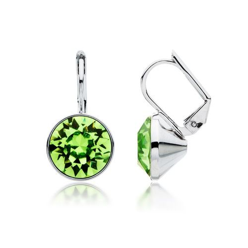 Bella Peridot Green Crystal Drop Earrings with Swarovski® Crystals