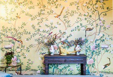 Дачный ответ. Цветы и птицы. Стены.