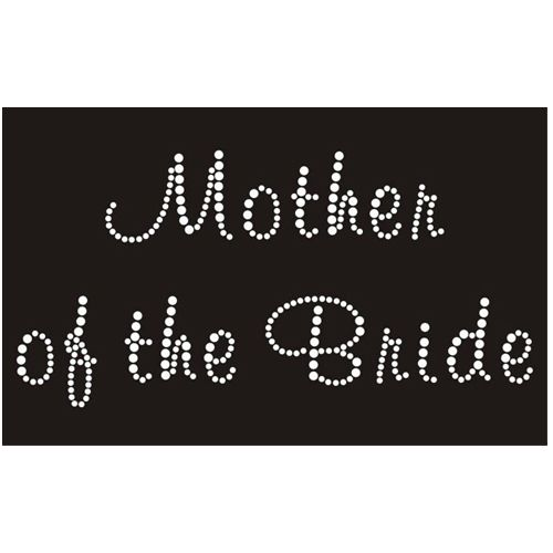 Mother of the Bride - Iron On Diamante Transfer