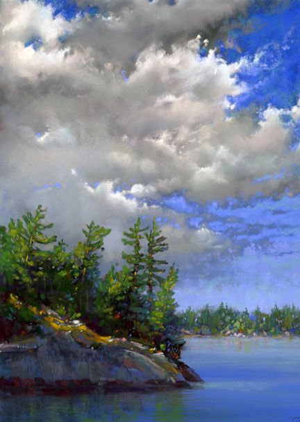 "Granite Shores - 13"" x 19"" - pastel by Sharon Fox Cranston"