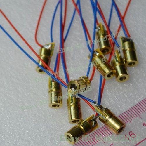 5pcs Mini 650nm 6mm 5V 5mW Laser Dot Diode Module Semiconductor Laser Copper Red
