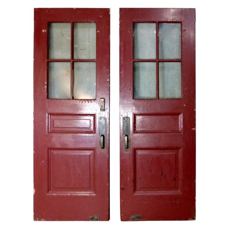 Pair Of Solid Oak Exterior Doors Circa 1920 In 2020 Double Doors Exterior Exterior Doors Oak Exterior Doors