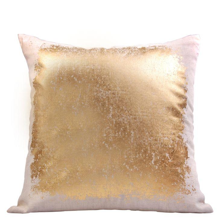 Gold splodge cushion