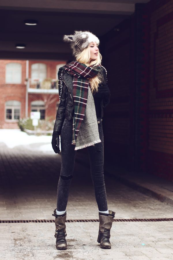 Romwe Jacket, Ash Boots, Mujjo Gloves - Let's Skip To The Good Part - Anila ♡ | LOOKBOOK