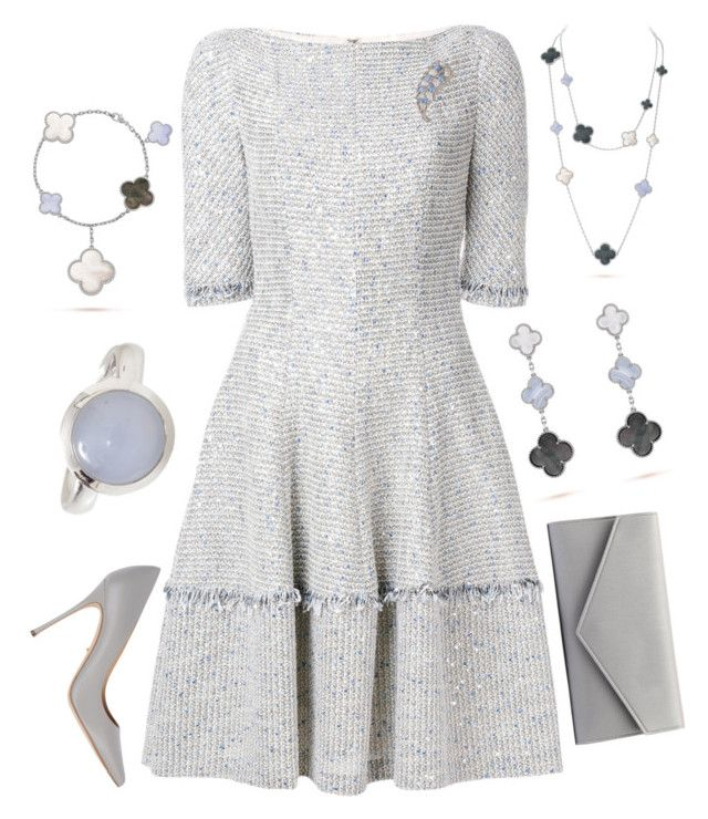 Attending Education Conference by nmccullough on Polyvore featuring Talbot Runhof, Sergio Rossi, Tamara Comolli and Trifari
