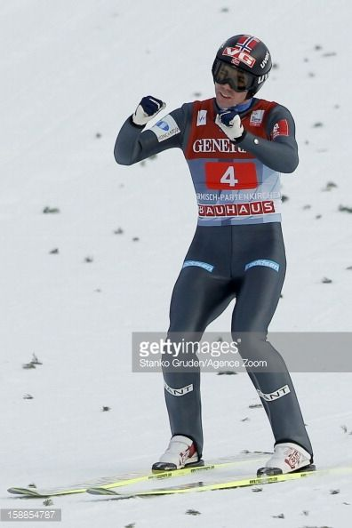 Anders Bardal of Norway takes 3rd place during the FIS Ski Jumping World Cup Vierschanzentournee on January 01 2013 in GarmischPartenkirchen Germany