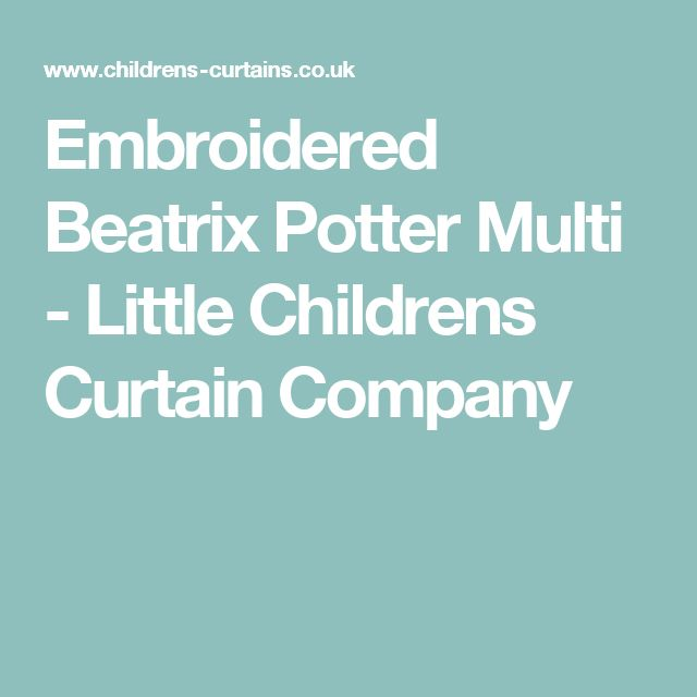 Embroidered Beatrix Potter Multi - Little Childrens Curtain Company