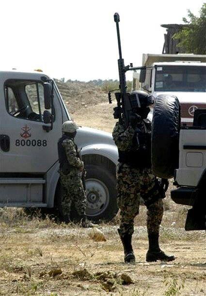 Elementos de la marina armada de México. En operativo