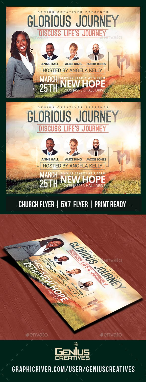Glorious Journey Church Flyer Template PSD