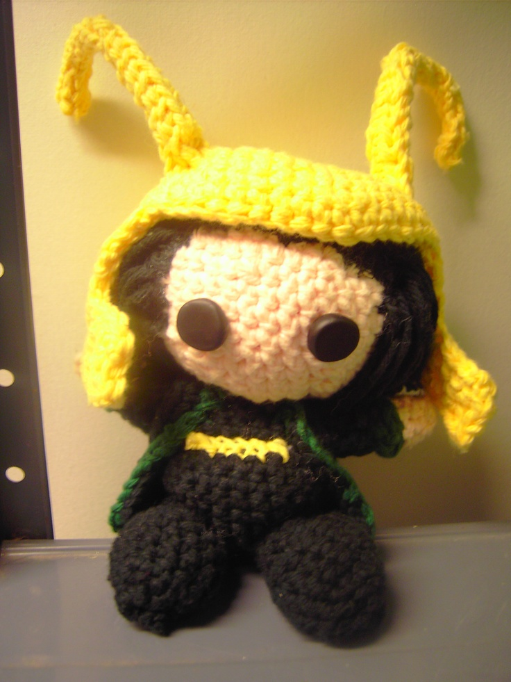Loki from the Avengers. The pattern is on overthebifrost.com.